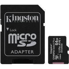 Kingston Canvas Select Plus - Tarjeta de memoria flash (adaptador microSDXC a SD Incluido) -
