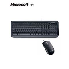 Kit Teclado Y Mouse Microsoft Wired 600, Usb, Negro.