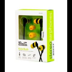 Klip Xtreme KolorBudz KHS-625YL - Auriculares internos - en oreja - cableado - conector de